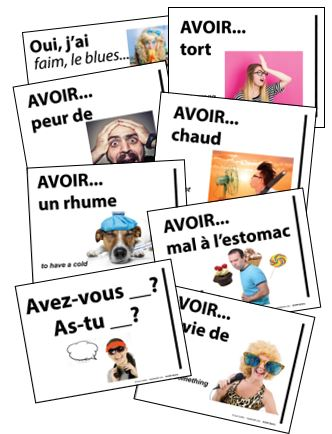 AVOIR IDIOM SIGNS