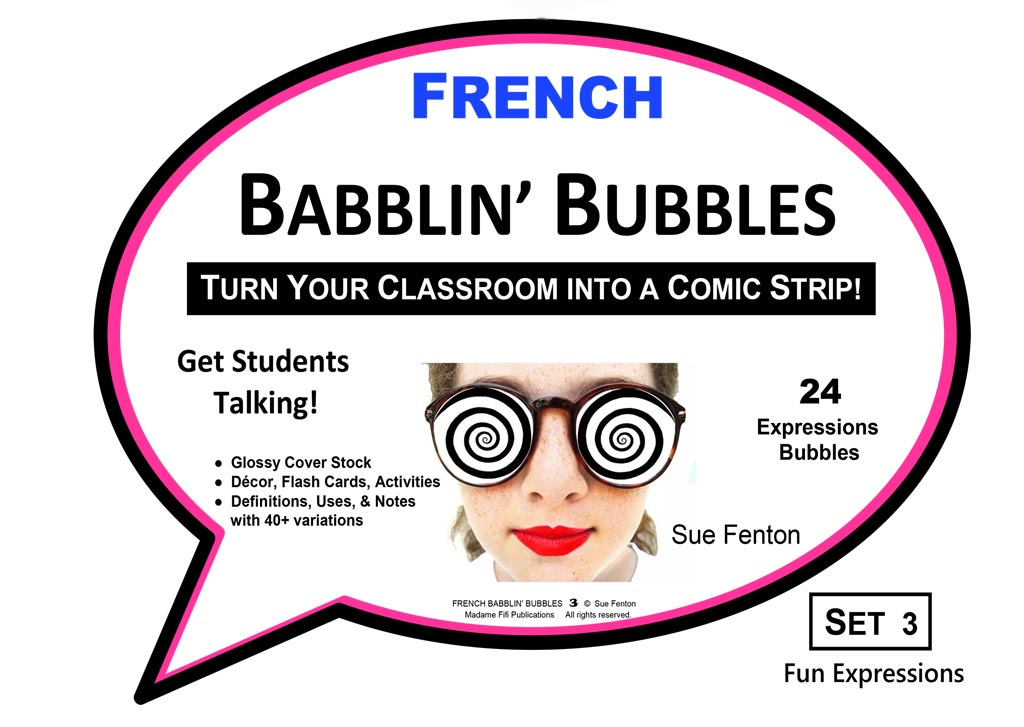 FRENCH BABBLIN' BUBBLES Set 3 FUN EXPRESSIONS