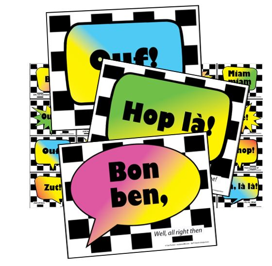 BOF! FRENCH INTERJECTIONS 20 Signs - Click Image to Close