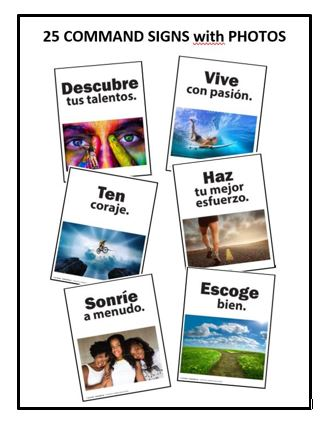 THOUGHTFUL COMMANDS in SPANISH