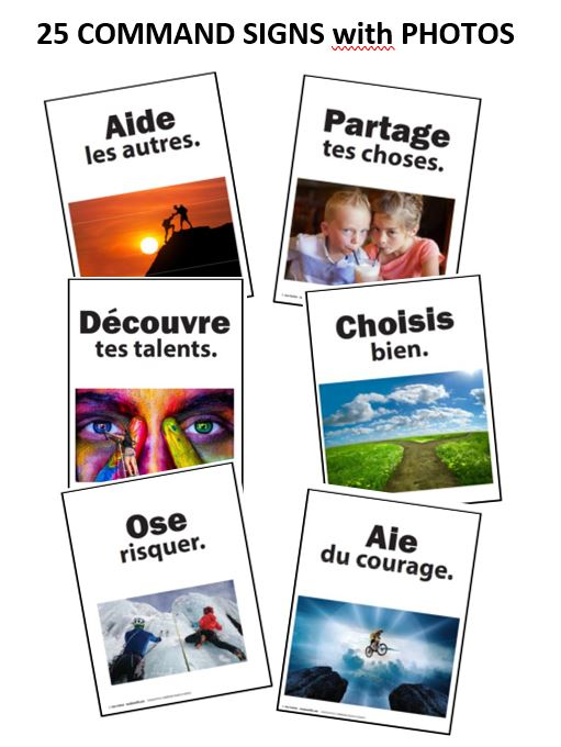 THOUGHTFUL COMMANDS in FRENCH