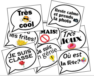 FRENCH PHOTO BOOTH SIGNS