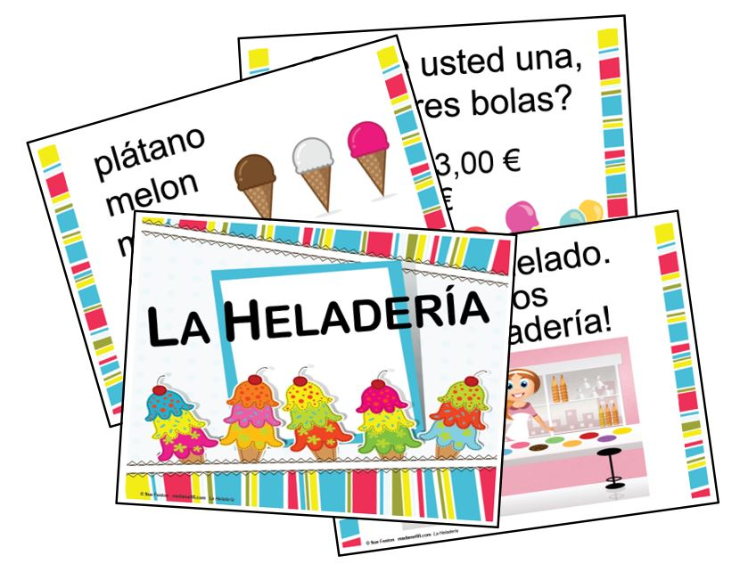 LA HELADERÍA - Set of 10 SIGNS