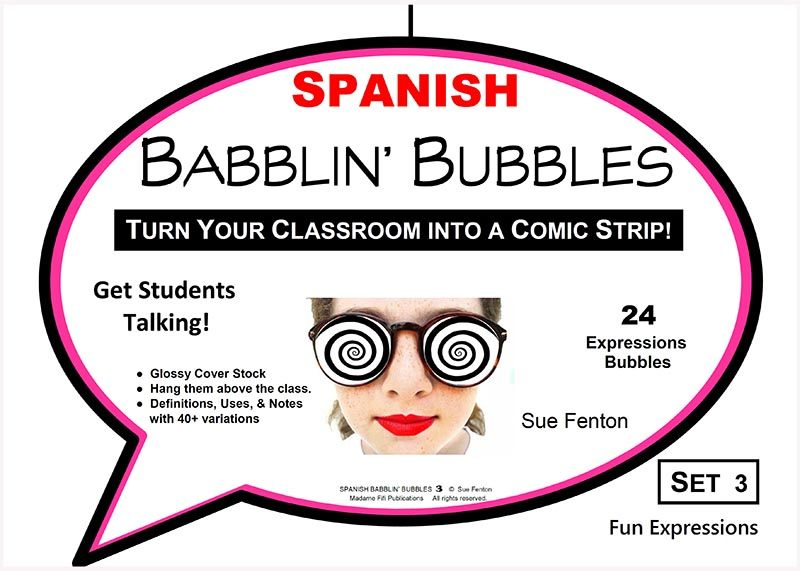 SPANISH BABBLIN' BUBBLES Set 3 FUN EXPRESSIONS
